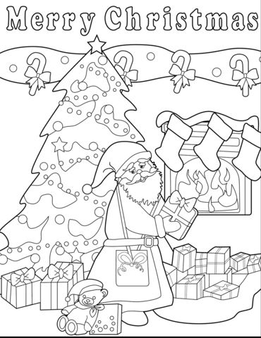 Christmas Coloring Pages for Kids & Adults: 16 Free Printable ... | 480x370