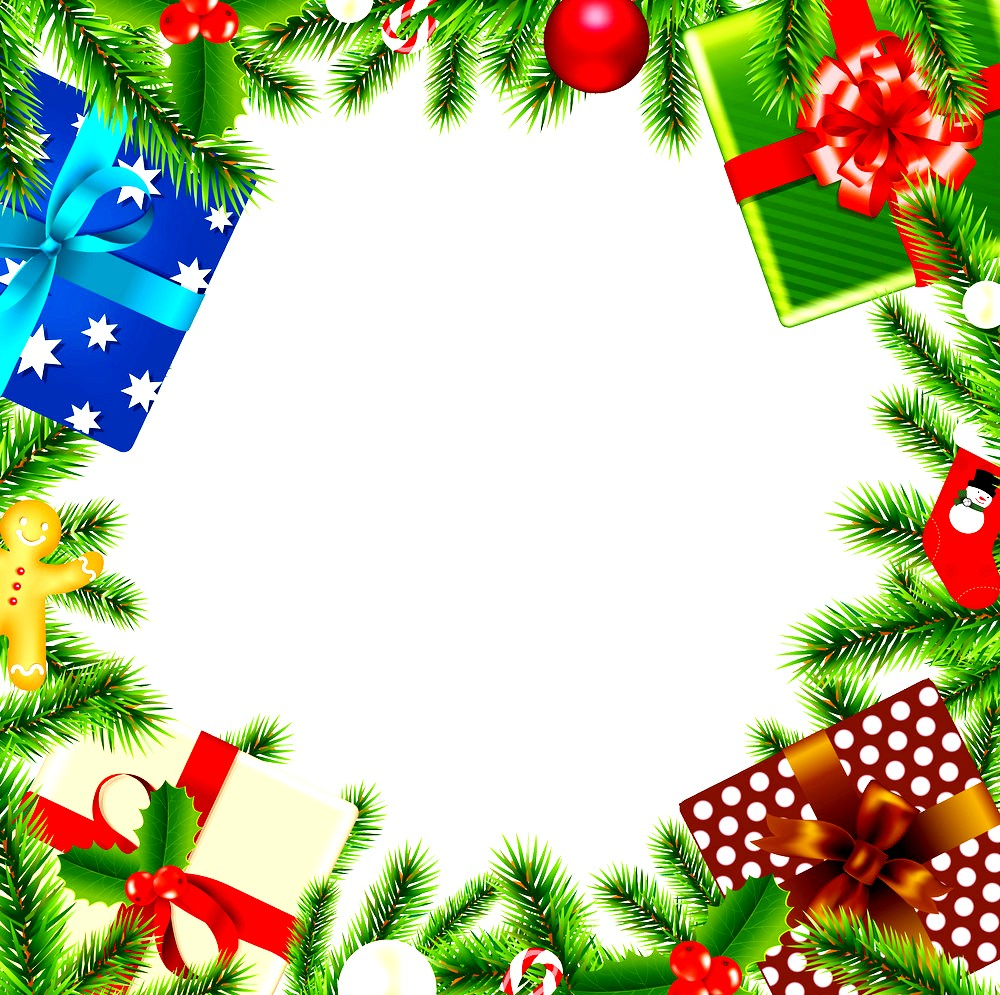 Merry Christmas Border Transparent Background