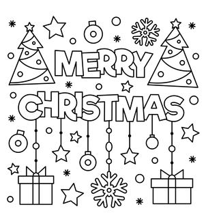 Merry Christmas Coloring Pages Free Download