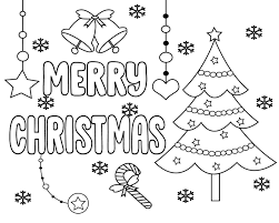 Merry Christmas Coloring Pages for Kids