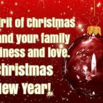 Merry Christmas Greetings 2020, Messages, Wishes for Friends & Family with Cards