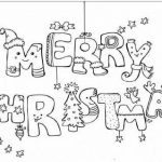 Printable Merry Christmas Coloring Pages Free Download