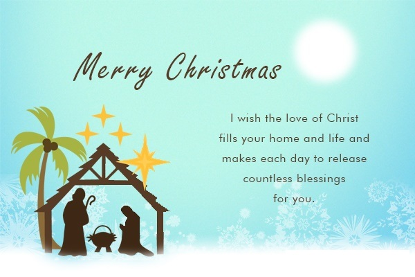 Religious Christmas Card Greetings
