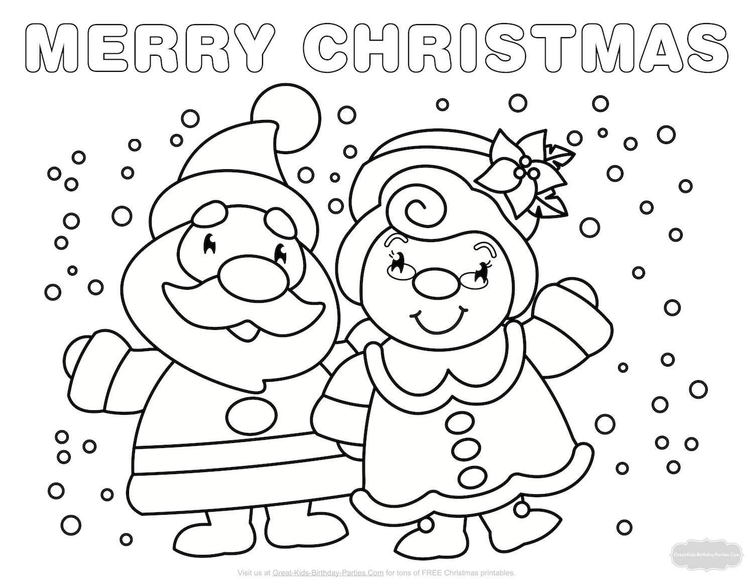 merry christmas coloring pages for toddlers