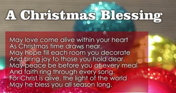 Merry Christmas Prayers For Family