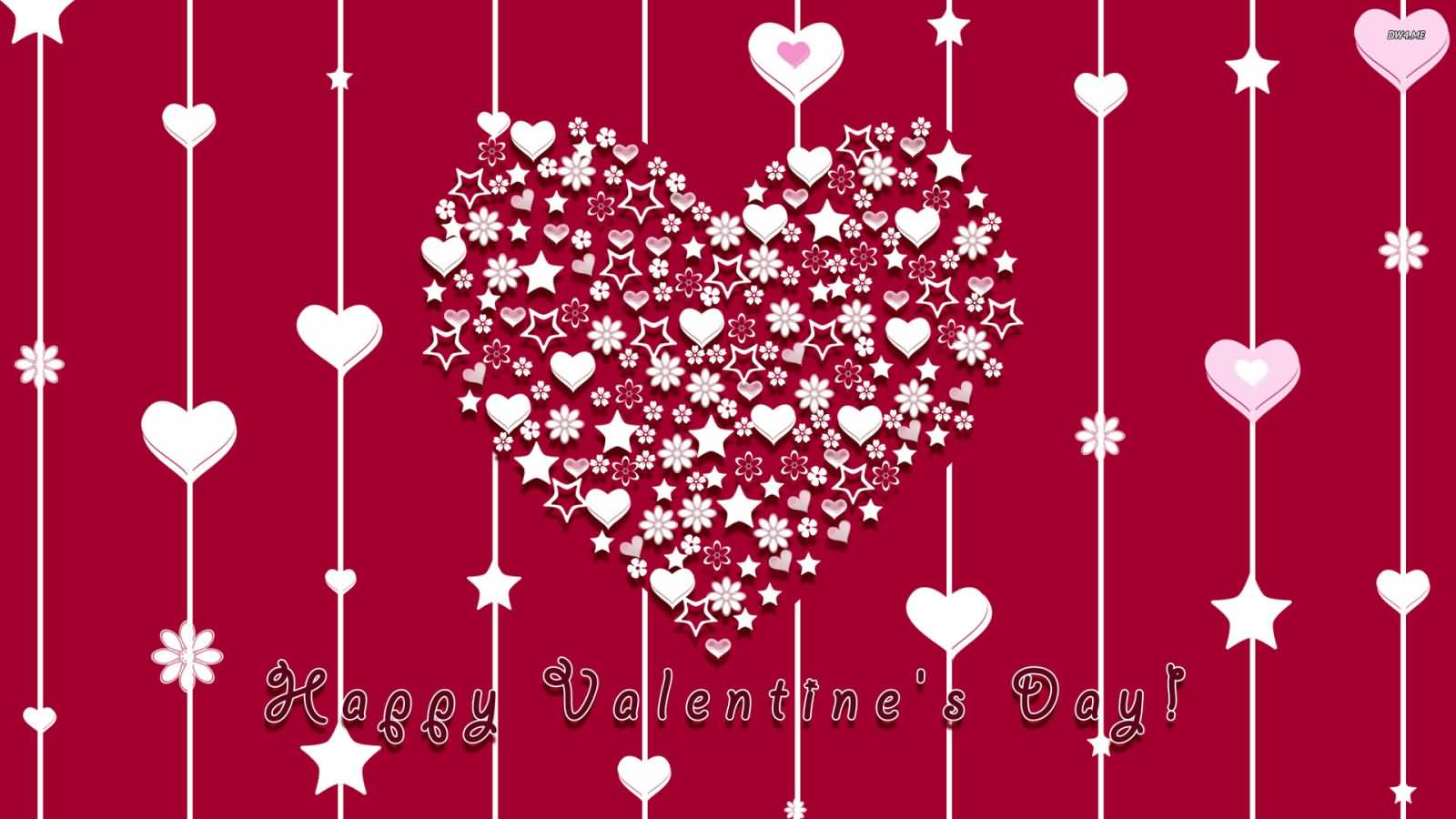 Happy Valentines Day Beautiful Hearts Wallpaper