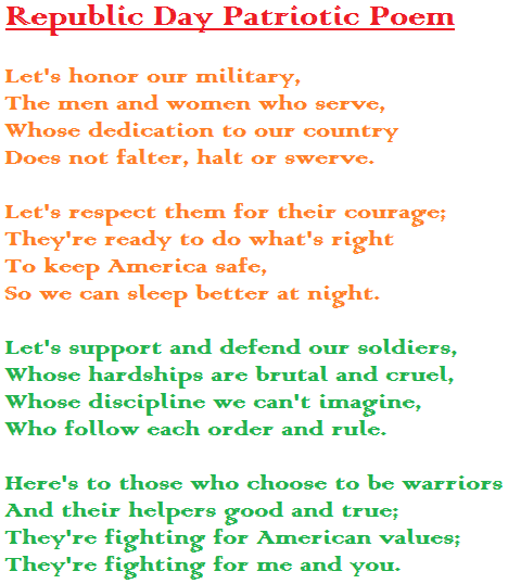 Republic Day English Poem 2020 Rhymes