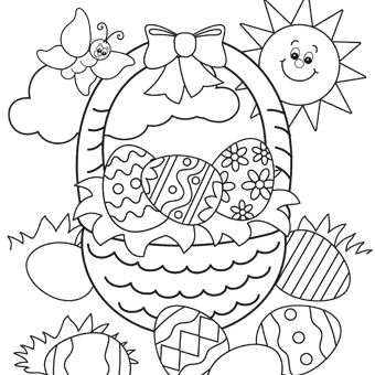 easter pictures for colouring