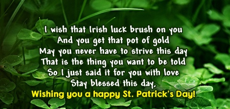 St Patricks Day Messages 2021