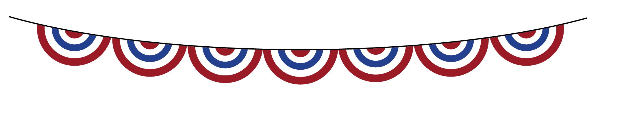 4th of July Clip Art Banner